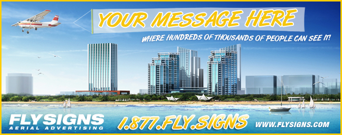 Airplane Banner Towing and Advertising in Boca Raton